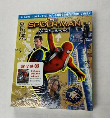 Spider-Man Homecoming Exclusive Digibook(Blu-ray/DVD/Digital)w/Comic Book-NEW~