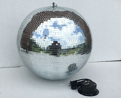 """18"""" Glass Mirror Disco Ball with Motor- DJ Dance Club Stage Party Concert"""