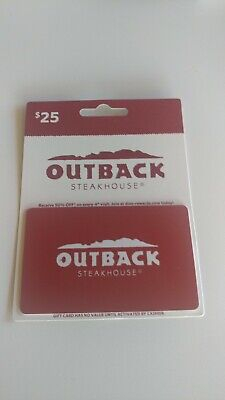 $25 Outback Steakhouse gift card free shipping