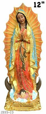"""Our Lady Of Guadalupe Statue Virgin Mary Catholic Virgen De Guadalupe 12"""""""