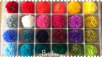 "Handmade wool Pom Poms x5 (approx 2"" in diameter) Just Choose Your Colours!"