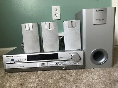 Panasonic SA-HT70 Multi-Channel DSP 5 Disc Changer DVD Home Theater Sound System