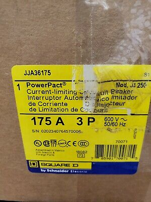 Jja36175 Square D New In Opened Factory Box Free Priority Shipping