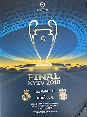2018 REAL MADRID v LIVERPOOL CHAMPIONS LEAGUE FINAL OFFICIAL UEFA PROGRAMME