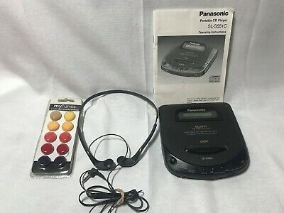 Rare Panasonic Portable Cd Player SL–S551C W/ Manual, Foam inserts, Headphones!