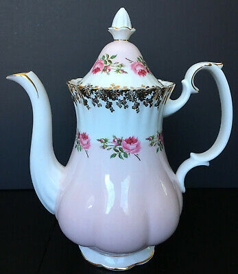 Vintage Royal Albert Bridesmaid Coffee Pot England First Quality As Is