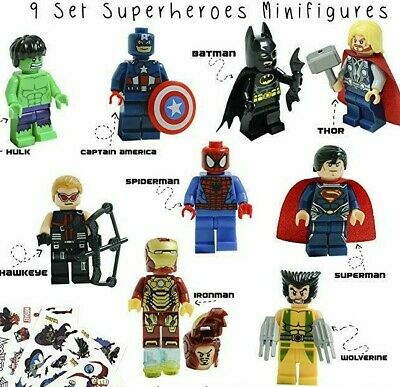 Marvel-Avengers-DC-Super-Hero-Mini-Figure-Set-Fits-UK-SELLER 2019 9 PC-Minifigs