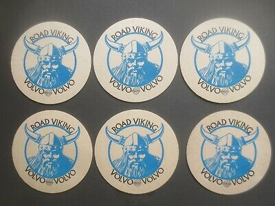 """6 x VOLVO """"ROAD VIKING"""" 1980,s Issue ADVERTISING collectable COASTERS"""