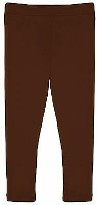 Lilax Girls' Basic Solid Full Length Cotton Soft high-quality fabric Leggings
