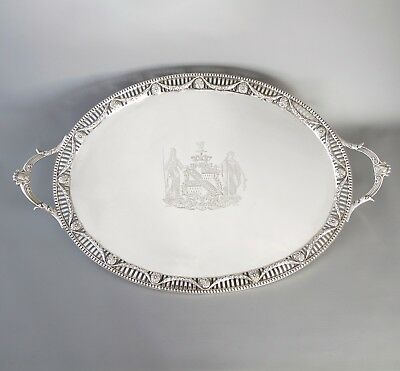 A Superb George III Two Handled Silver Tray London 1816