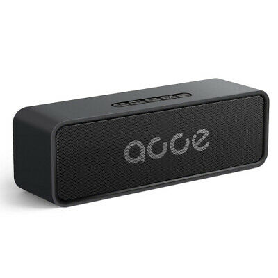 (Black) - AOOE Wireless Speaker portable HD-Stereo,Hi-Fi Sound with Microphone