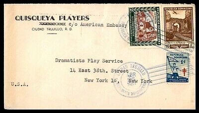 Mayfairstamps Dominican Republic 1951 Quisqueya Players to New York cover wwb259