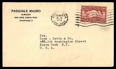 Mayfairstamps Costa Rica 1939 San Jose Solo Frank to US New York cover wwb26109