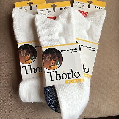 INEW! Vtg 1993 THORLO 2 PAIR BX-15 MENS BASKETBALL Crew Tube SOCKS Sport