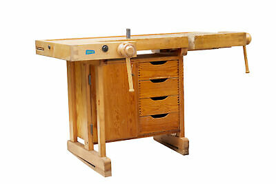 20Th Century Swedish Pine School Work Bench