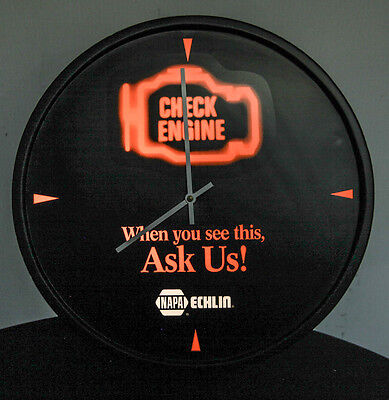 Napa Check Engine Clock  Echlin Nascar Shell