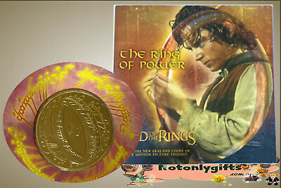 """NZ. 2003 """"The Lord of the Rings"""" $1 Uncirculated Coin - The Ring of Power"""