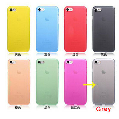 For iPhone 6/6s Shockproof Ultra Thin Slim Hard Only Grey Phone Shell Case Cover
