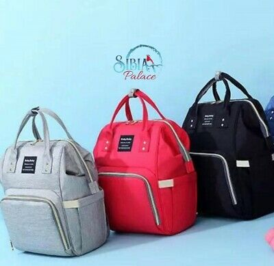 Luxury Multi functional Baby Diaper Nappy Backpack Waterproof Mummy Changing Bag