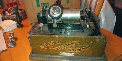 Antique Edison Standard Phonograph, Model C For Restoration/ Parts W/Reproducer