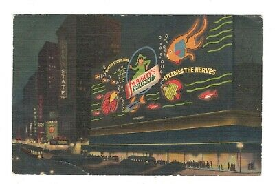 Wrigley Gum Sign Times Square New York City Vintage Postcard AN14