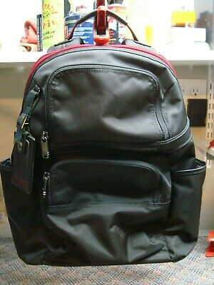 Tumi 263162 Ballistic Nylon Black Red Compact Laptop Backpack - Never Been Used