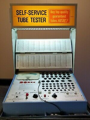 Vintage Mercury Electronics Vacuum Tube Tester Model 204 Self Service