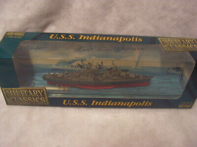 USS Indianapolis Model Signed by Survivor