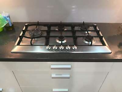 86cm Stainless Steel 5 Burner GAS Cooktop Usded Cook Top Stove