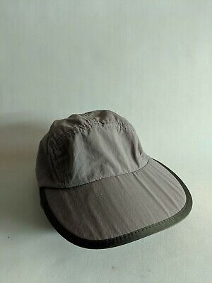229ea8f1 Vintage 5 Panel Patagonia Duck bill grey Hat Cap USA Made size S fishing  cycling