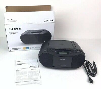 Sony CFD S70 CD Cassette Tape Player AM FM Radio Boombox w Manual & Box NOTB