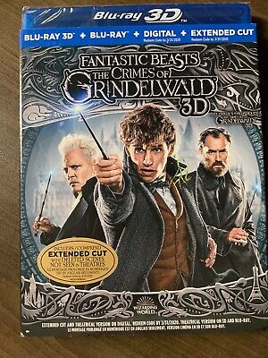 NEW Fantastic Beasts 2 Crimes Of Grindelwald 3D Blu-Ray & Digital Copy Slipcover