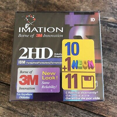 Imation 2HD Floppy Disc 10 Plus 1 New Sealed