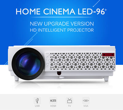 "Excelvan 96 + Native 5.8"" 1080p LCD LED Projector Beamer 5000 Lumens HDMI ATV"