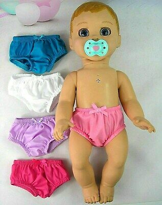 ACCESSORIES FOR LUVABELLA DOLL ~ 5 x UNDIES~KNICKERS~ (7)~PINK~WHITE~LILAC~AQUA