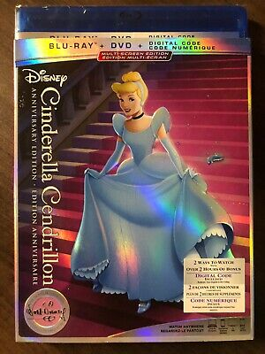 NEW Cinderella Blu-Ray & DVD & Digital Copy w Slipcover Canada Bilingual SEALED