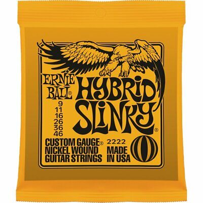 1set Ernie Ball 2222 Electric Guitar Strings Hybrid Slinky 009-046