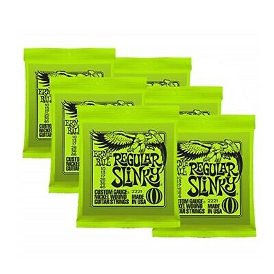 5set Ernie Ball 2221 Regular Slinky Electric Guitar Strings 10-46  F/S Air mail