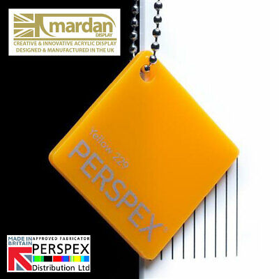 Acrylic Perspex® Yellow 229 Gloss Cut Sheets - Cut Panels