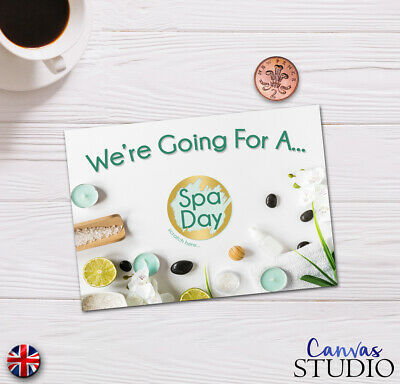 Personalised Spa Day Surprise Scratch Off Cards Present Birthday Christmas gift