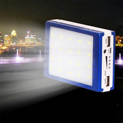 Hot 600000mAh Dual USB Portable Solar Battery Charger Power Bank LED For Phone