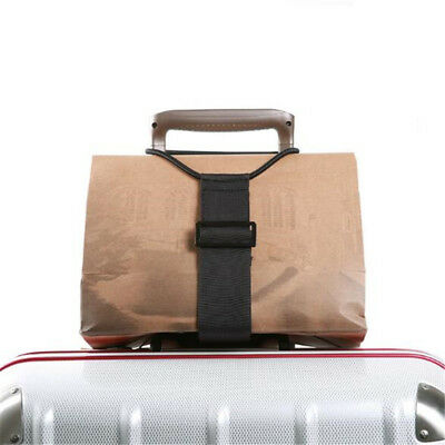 Add A Bag Strap Travel Luggage Suitcase Adjustable Belt Elastic Rope Fixed Strap