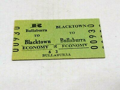 Nsw Railways Train Ticket Blacktown To Bullaburra