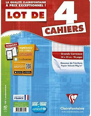 Clairefontaine Metric Cahier Grands carreaux sans spirales 96 pages 24x32 cm