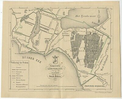 Antique Map of the Lemsterland township by Behrns (1861)