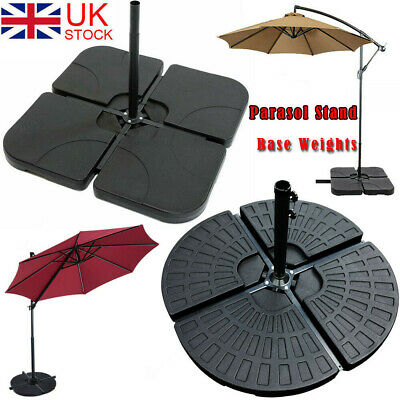 Square Fan Parasol Base Stand Weights for Banana Hanging Cantilever Umbrella UK