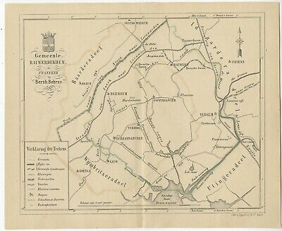 Antique Map of the Rauwerderhem township by Behrns (1861)