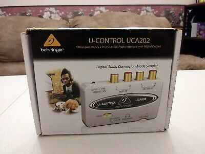 Behringer U-Control UCA202 Ultra-Low Latency 2 In/Out USB Audio Interface - New