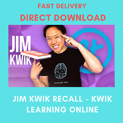 Jim Kwik Recall – Kwik Learning Online | Fast E-Delivery | Full Course