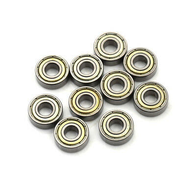 10PCS 696ZZ Deep Groove Miniature Ball Bearing 6X15X5mm Metal Mini Bearing SMQ9F
